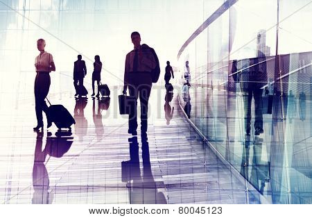 Business Travel Airport Commuter Corporate Professional Occupation Concept
