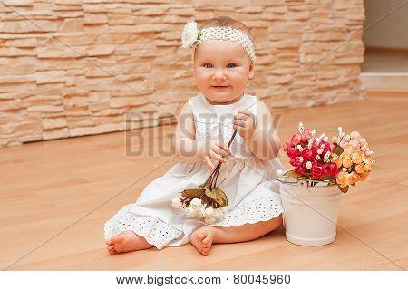 Small cute baby girl