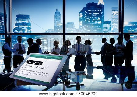 Business People Stock Exchange Finance Meeting Communication Concept