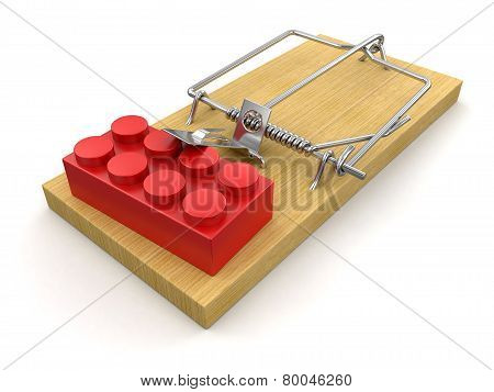 Mousetrap and Block (clipping path included)