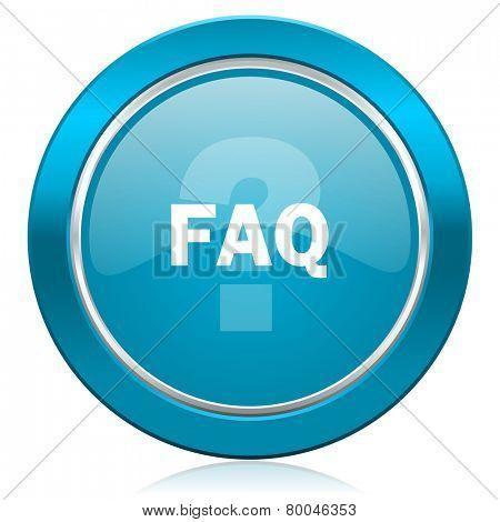faq blue icon