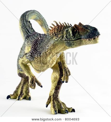A Huge Allosaurus Dinosaur Stands Against White