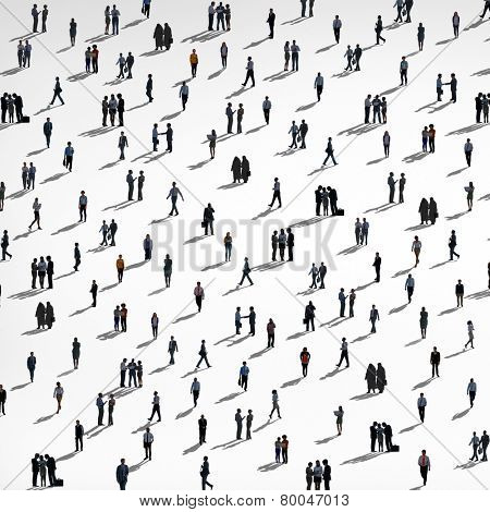 Group of People Diversity Crowd Business People Concept