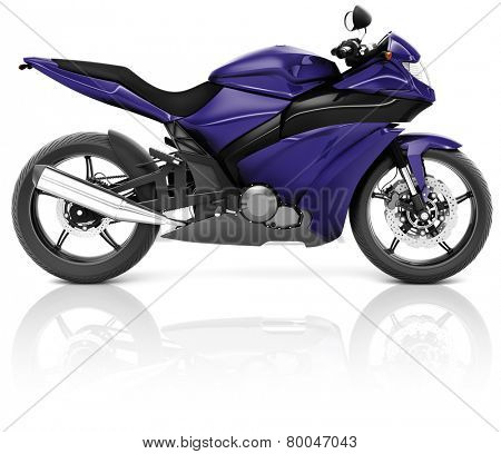 Motorcycle Motorbike Bike Riding Rider Contemporary Purple Concept