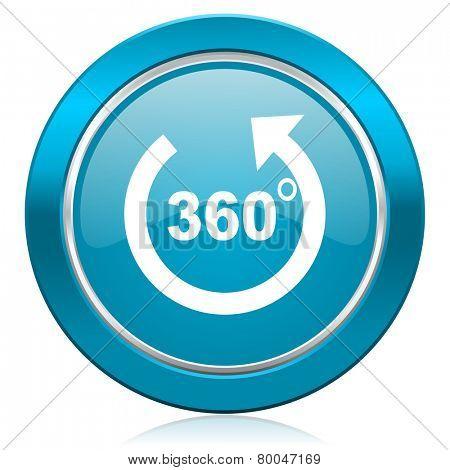 panorama blue icon
