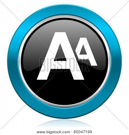 alphabet glossy icon