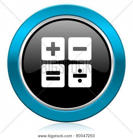 calculator glossy icon calc sign