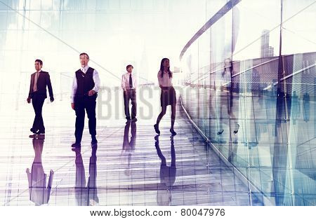 Business People Walking Professional Urban City Concept