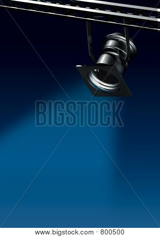 Spotlights Blue2