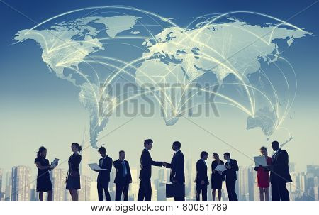 Business People Collaboration Team Teamwork Professional Concept poster