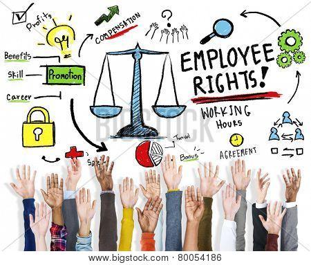 Employee Rights Employment Equality Job Hands Volunteer Concept