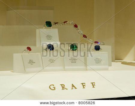 Graff Jewellery window, Bond street