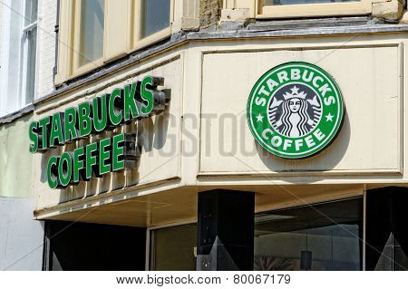 Exterior of a Starbucks coffee shop