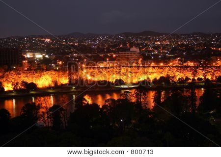 Brisbane River By Night