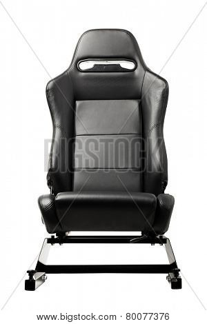 racing simulator seat, isolated on white