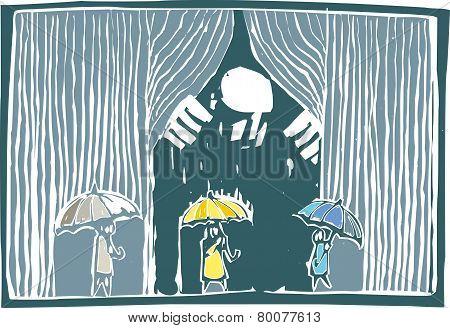 Curtain Of Rain Color