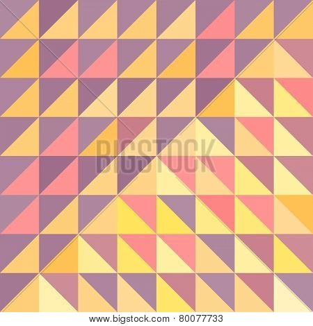 Geometric triangles background. Mosaic. Abstract vector illustration.