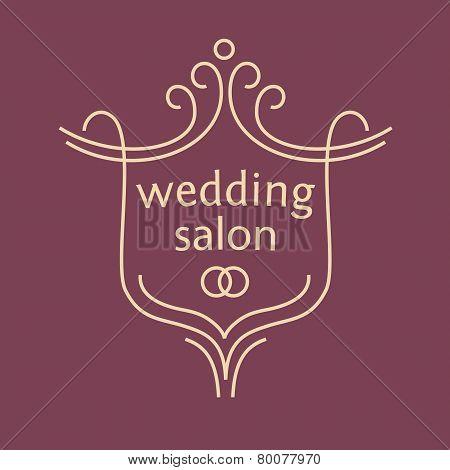 Vector logo for a bridal salon, wedding bouquets.