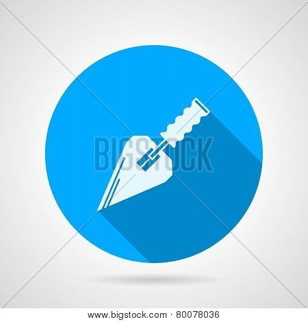Flat vector icon for construction trowel