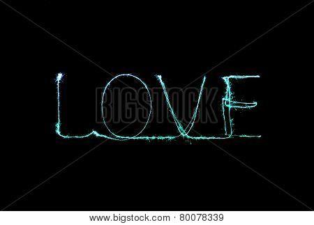 Love Sparkler Firework Light Alphabet