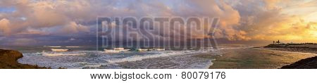 180 degree panorama of the caribbean sea and the bahamas