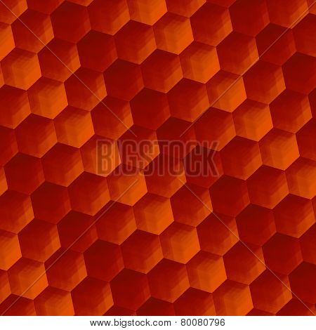 Abstract background art. Vintage rusty texture. Parquet or floor. Geometric pattern hexagons.