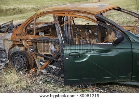 Car destroyed by fire