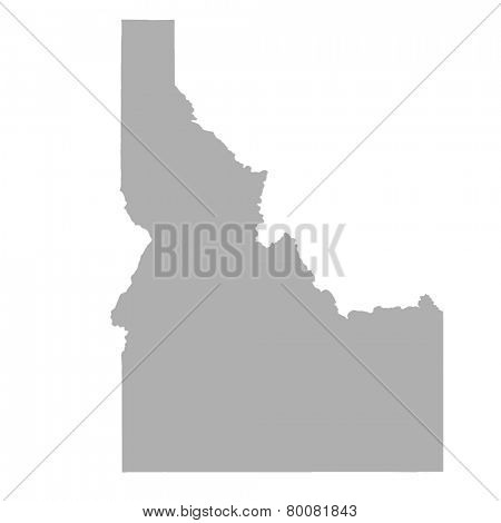 Idaho State map isolated on a white background, USA.