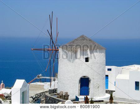 Santorini Windmill