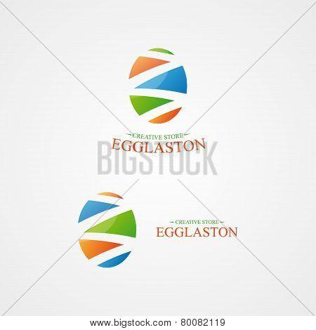 Vector logo with a creative egg logo.