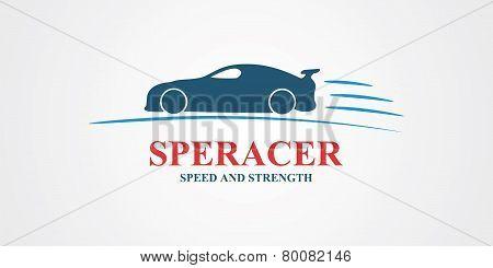 Abstract sport car design