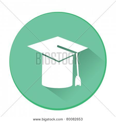 Mortarboard or Graduation Cap. Flat vector illustration