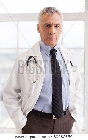 Confident Senior Doctor.