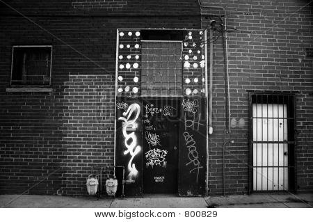 Graffiti on a door