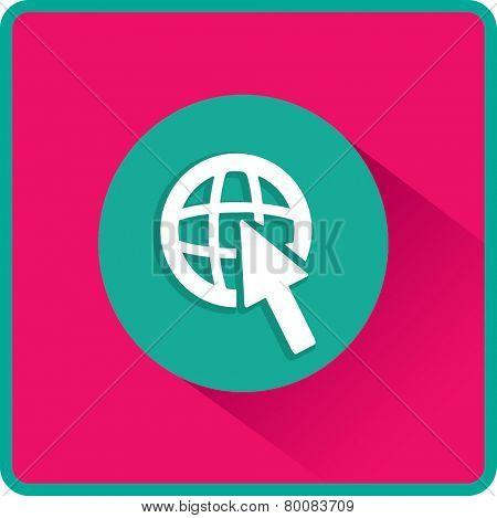 Flat Vector Internet Icon