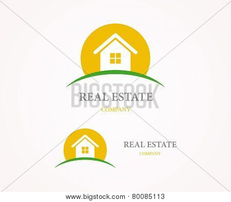 Real Estate vector logo design template.