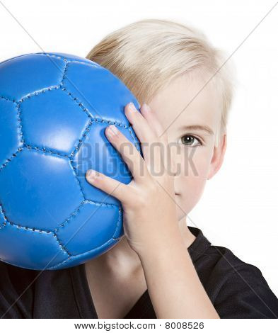 Youth With Soccer Ball