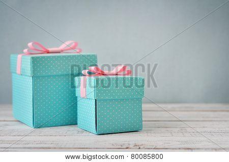 Blue Polka Dots Gift Boxes