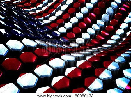 Usa background theme - 3D render