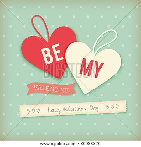 Valentine`s day card - scrapbook style.