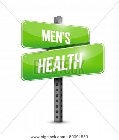 Mens Health Road Sign Illustration Design