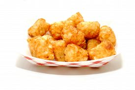 A Fast Food Container Of Crispy Tator Tots