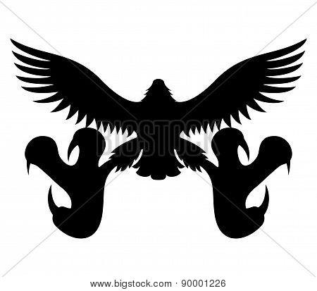 Vector sign. Eagle.