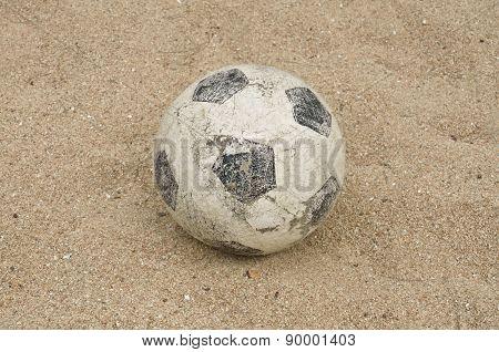 Football On A Beach