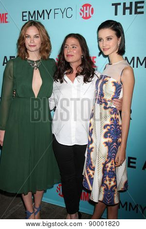 """LOS ANGELES - MAY 5:  Ruth Wilson, Maura Tierney, Julia Goldani Telles at the Showtime's """"The Affair"""" Screening Event at the Samuel Goldwyn Theater on May 5, 2015 in Beverly Hills, CA"""
