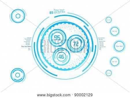 Blue Vector Elements For Design