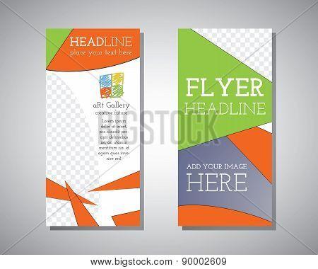 Abstract Art Gallery Polygonal Triangle Brochure Flyer design vector template