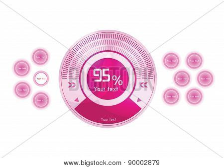 Pink Vector Design Elements On White Background