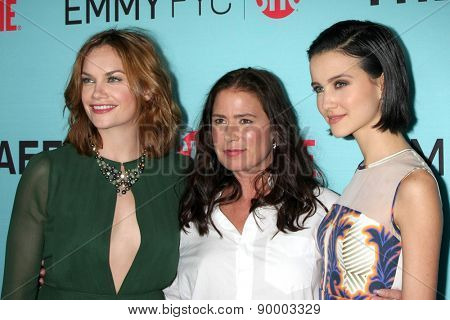 "LOS ANGELES - MAY 5:  Ruth Wilson, Maura Tierney, Julia Goldani Telles at ""The Affair"" Screening Event at the Samuel Goldwyn Theater on May 5, 2015 in Beverly Hills, CA"