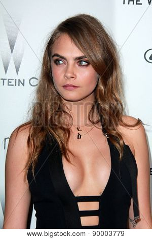 LOS ANGELES - JAN 11:  Cara Delevingne at the The Weinstein Company / Netflix Golden Globes After Party at a Beverly Hilton Adjacent on January 11, 2015 in Beverly Hills, CA